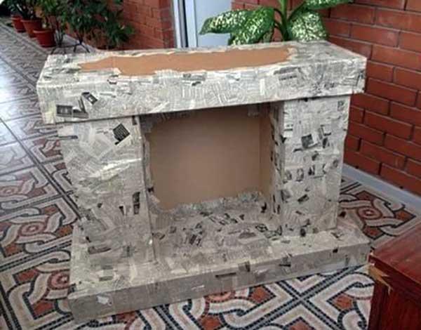 Камин своими руками из коробок домашних условиях