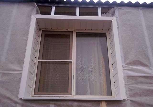 Как сделать круглое окно из сайдинга