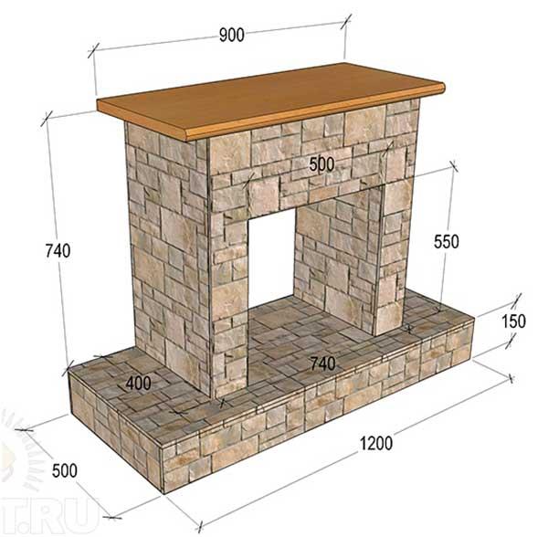 Схема картонной поделки с размерами