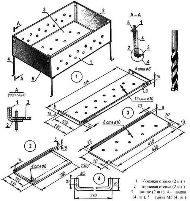 Схема разборной конструкции