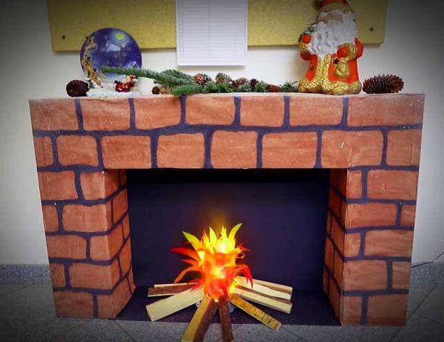 Портал с имитацией пламени