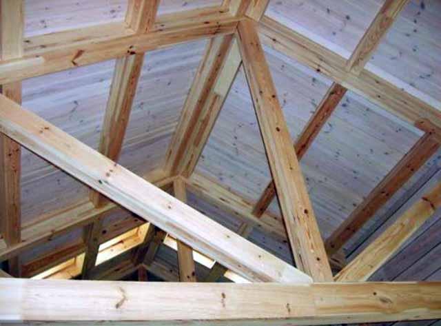 Стойки и стропила крыши