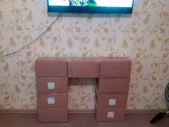 Склеенные картонные ящики
