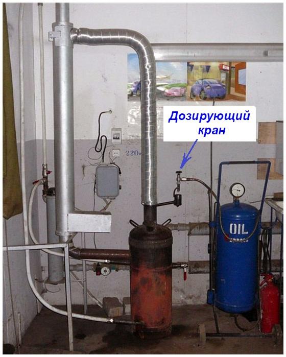 Масляное отопление гаража