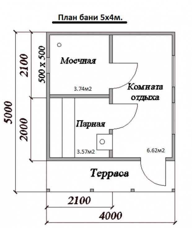 Планировка здания 5х4