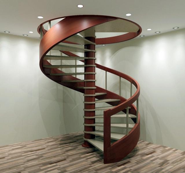Витая лестница между этажами