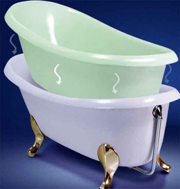 Полимерный вкладыш для стальных ванн
