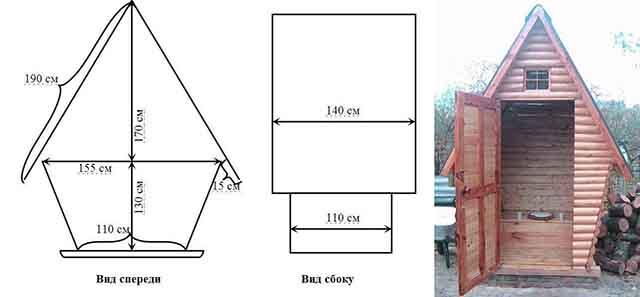 Схема туалета в виде теремка