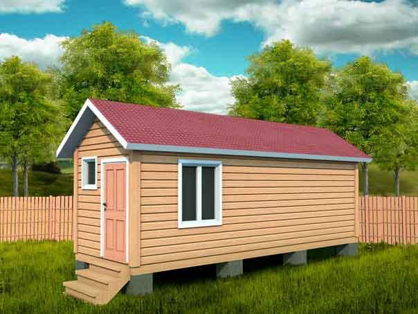 Маленький домик на фоне природы