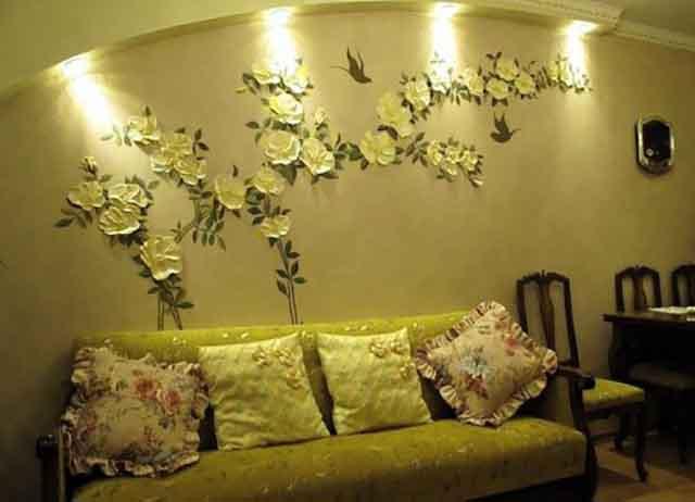 Цветы из гипсовой лепнины