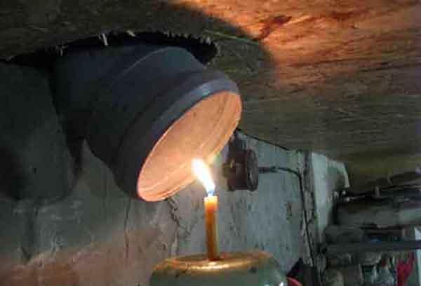Свечка под трубой