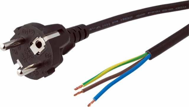 Электрокабель с вилкой