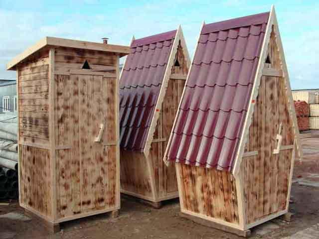 Готовые деревянные уборные