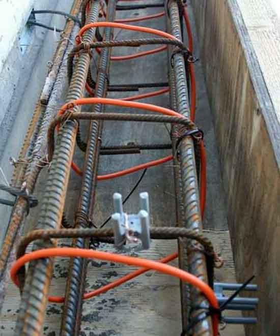 Греющий кабель на арматуре