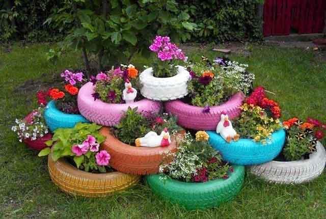 Автомобильные скаты с цветами