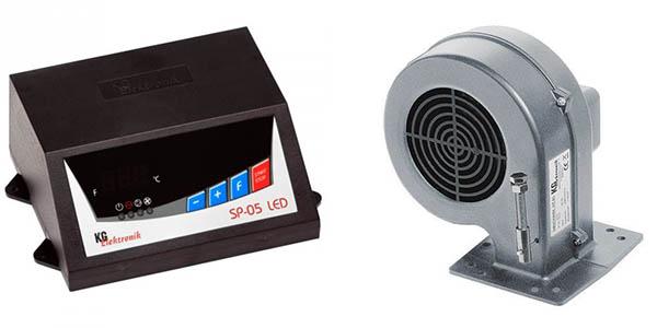 Контроллер и вентилятор наддува