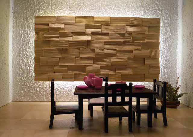 3Д колотый рисунок древесины
