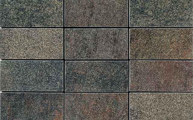 Прямоугольные плитки разной расцветки