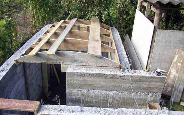 Арочный потолок хранилища