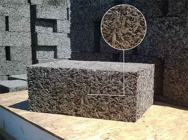 Готовый стеновой камень из древобетона