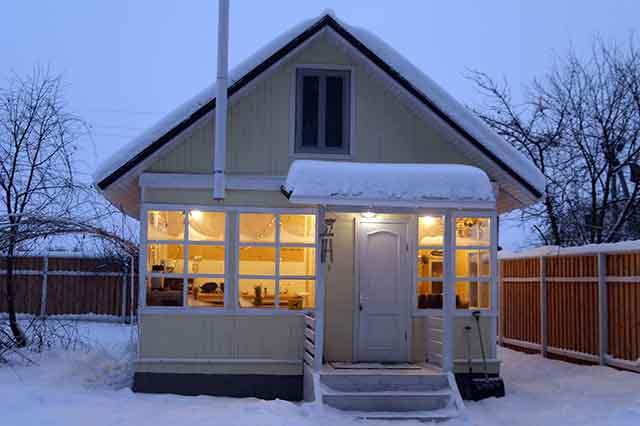 Зимняя теплая терраса