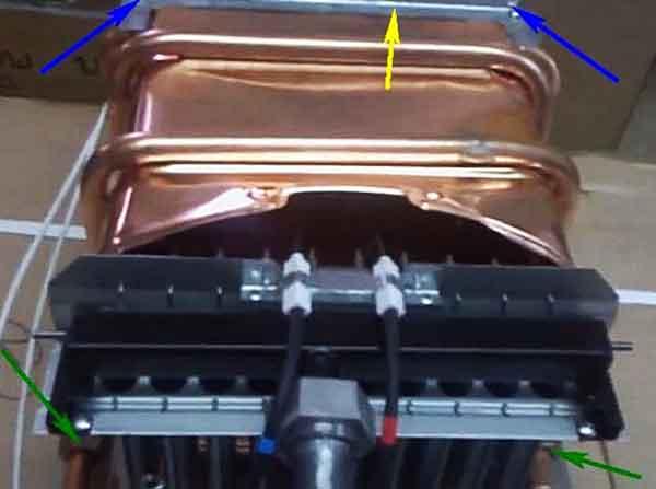 Снятие медного теплообменника