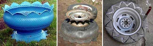 Колесный диск и шина для подставки