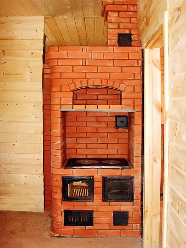 Печной обогрев в деревянном особняке