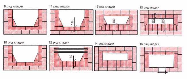 Схема рядов 9-16