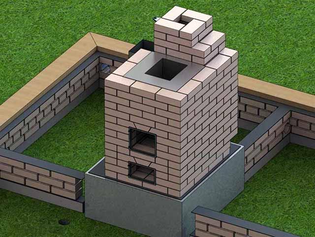 Отдельный бетонный фундамент