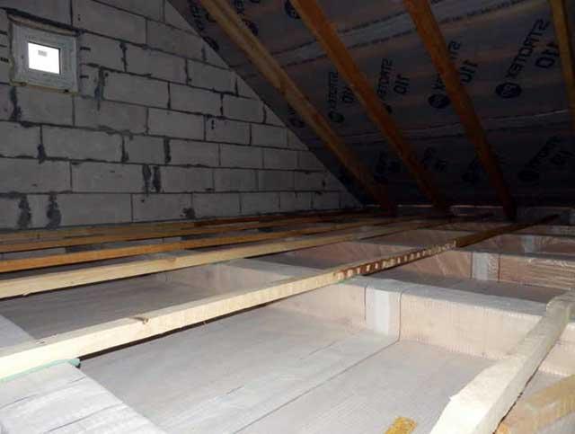Укладка пленки на потолок