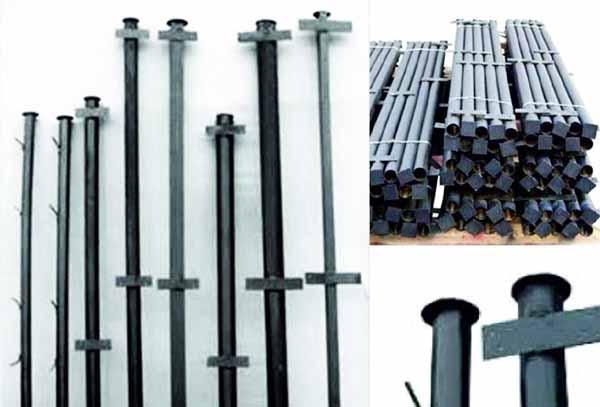 Заборные столбики из металла