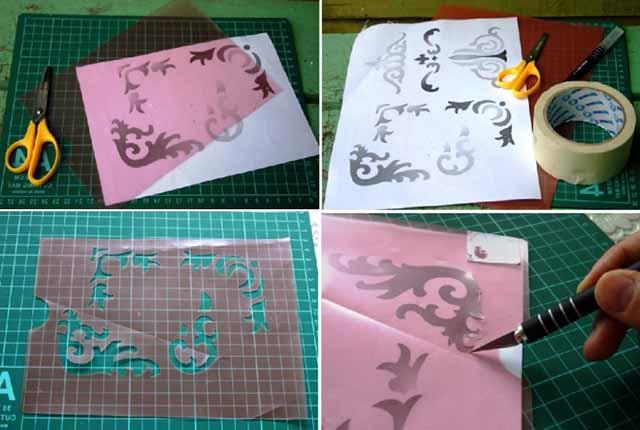 Изготовление шаблона под рисунок