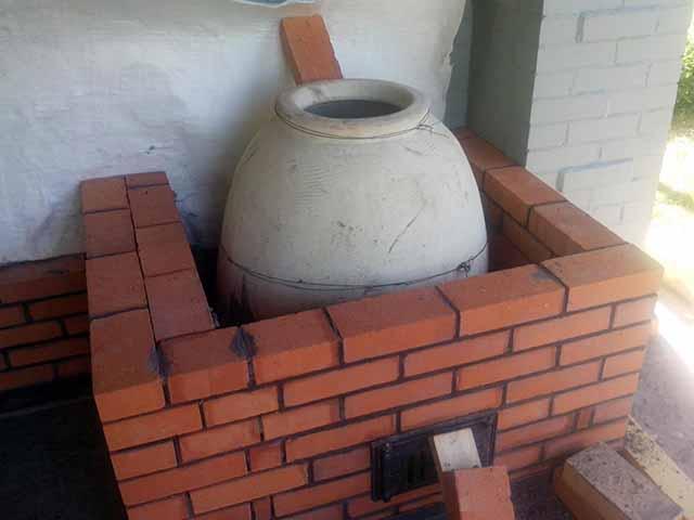 Постройка стенок печки
