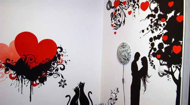 Рисунок - абстракция из двух цветов