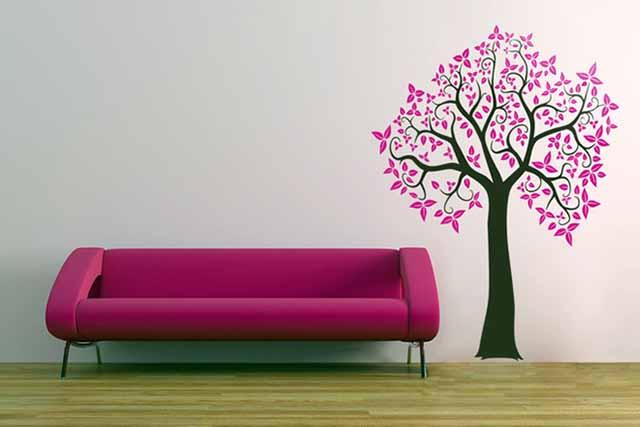 Изборажение дерева на стенке