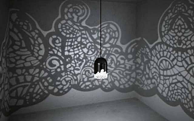 Тень от светильника на стенах