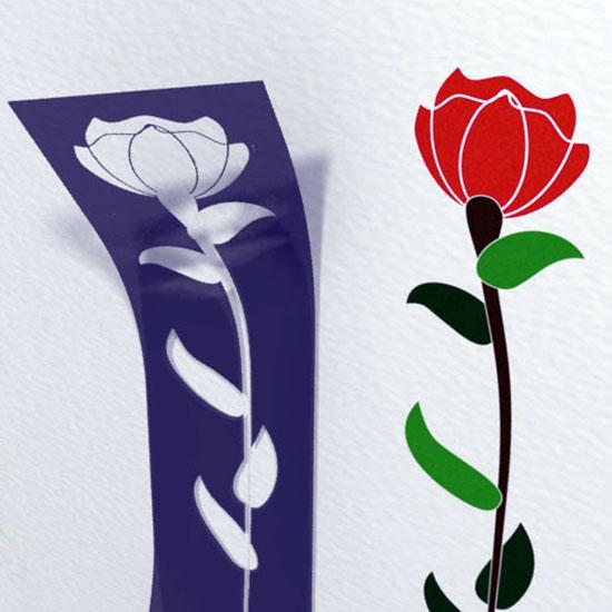 Шаблон для рисования цветка