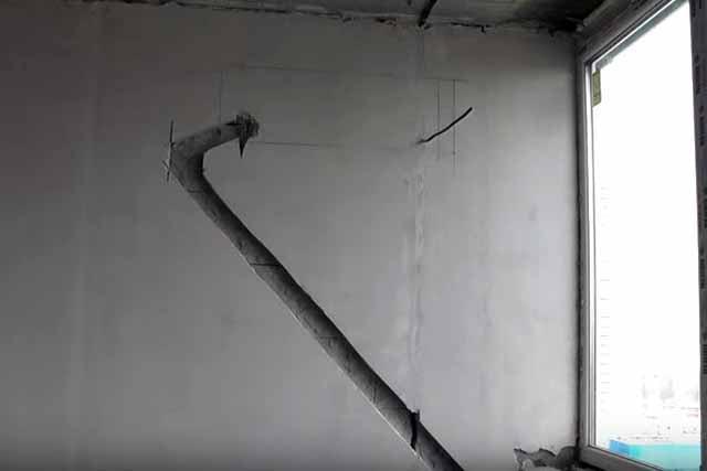 Borozda dlja skrytoj prokladki freonoprovodov - Установка кондиционера своими руками видео