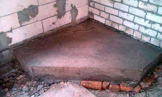 Железобетонная плита под строительство камина