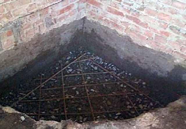 Армировка каминного фундамента