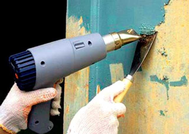 Как удалить масляную краску феном