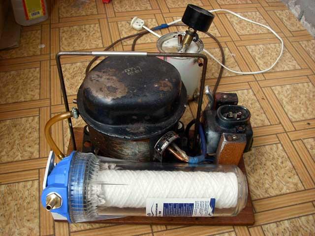 Вакуумный агрегат в сборе