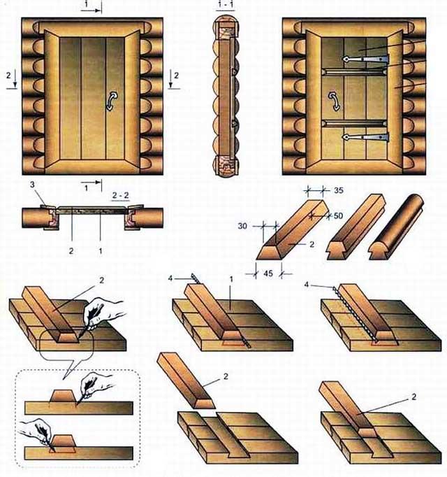 Схема сборки полотна из досок