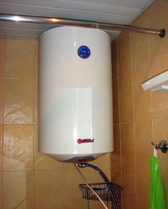 Монтаж водонагревателя в санузле