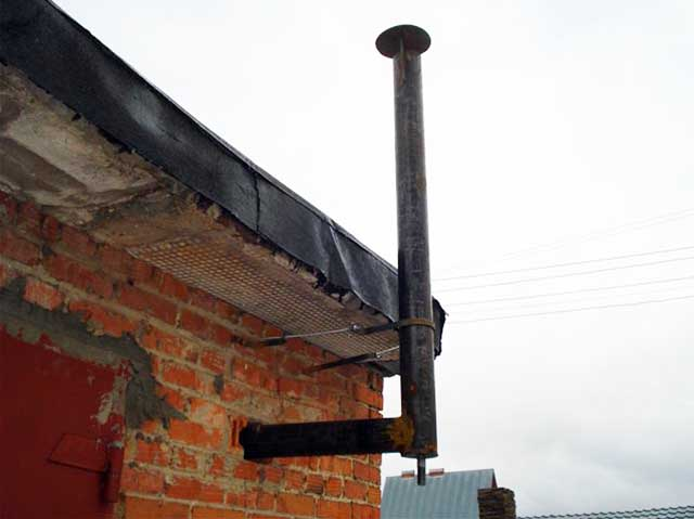 Не утепленный металлический газоход