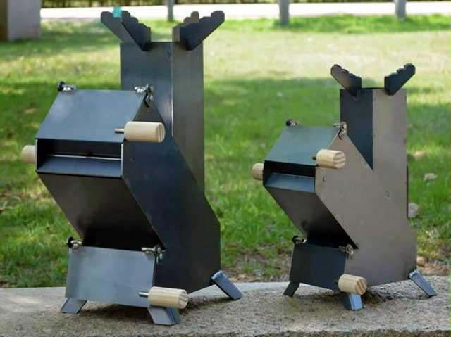 Походная стальная печка