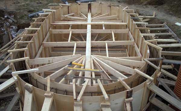 Полукруглая опалубочная конструкция