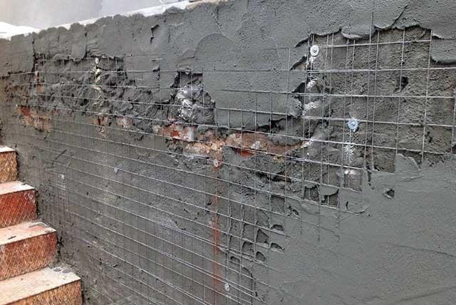 Наружная отделка кирпичной стены