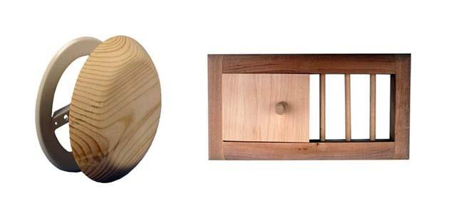 Потолочный дефлектор и решетка из дерева
